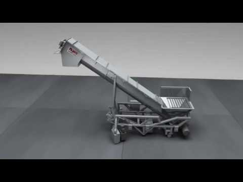Articulating Screw Elevator Animation Video, Mepaco Incline Screw Conveyors