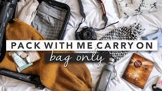 Pack With Me Carry On Only for Winter Travel | by Erin Elizabeth