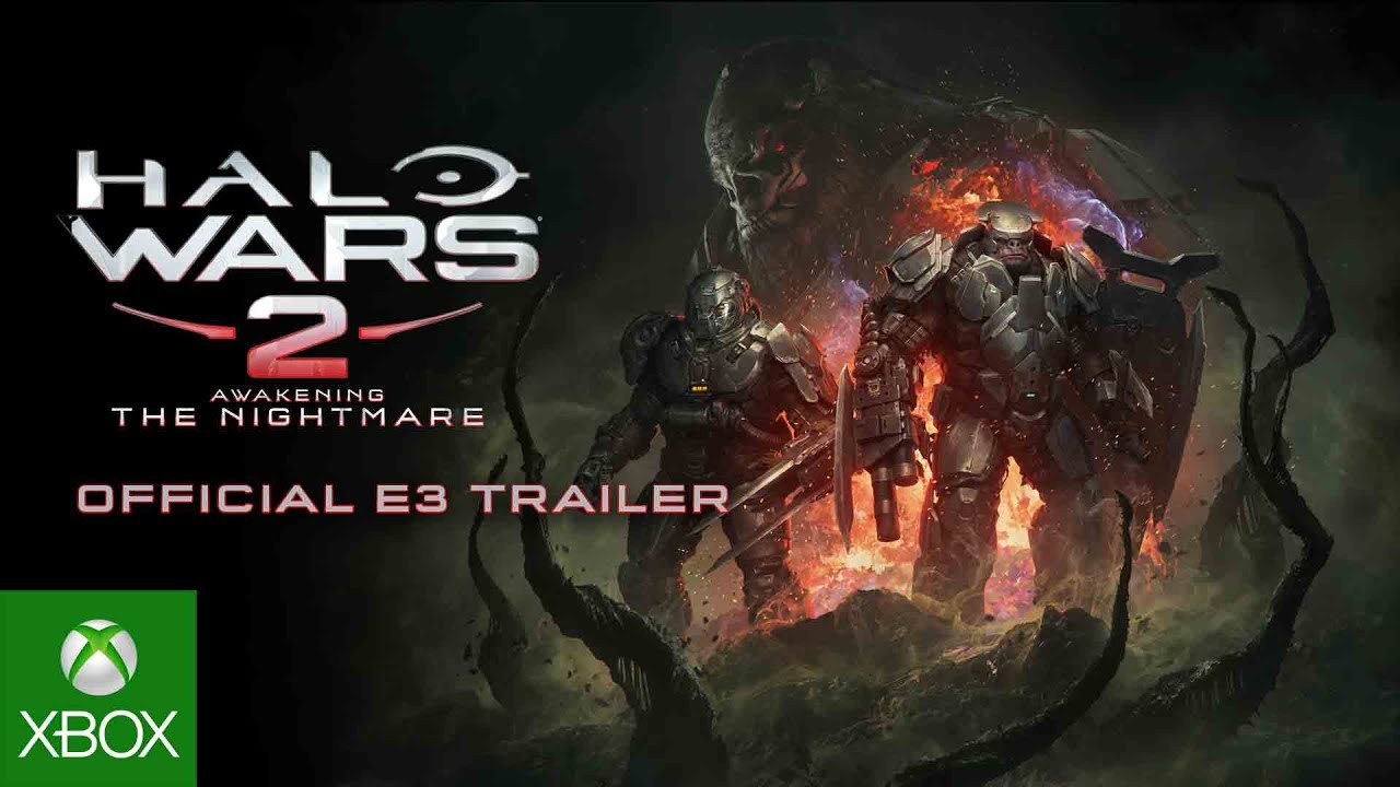 Halo Wars 2 Official E3 Trailer, front view of 3 brutes in battle gear