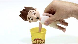 Ryder Paw Patrol dress up clay cartoon 💕 Superhero Play Doh Stop motion videos   DibusYmas