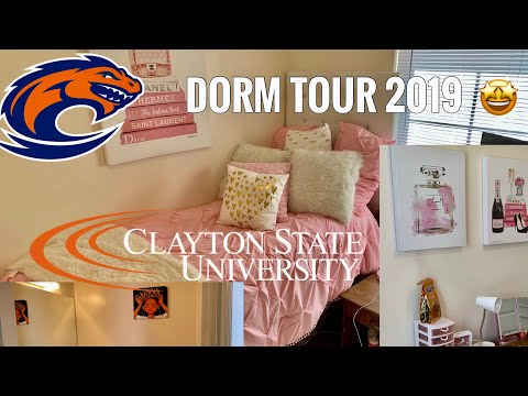 DORM ROOM TOUR 💗 | CLAYTON STATE UNIVERSITY 🧡💙