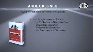ARDEX K 36 NEU Ausgleichsmasse für innen und außen