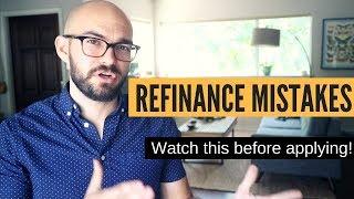 Car refinance mistakes | DON'T MAKE THEM!