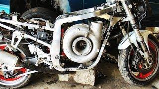 Insanely HUGE Turbo BIKES and Motorcycles ! ( Banshee r1 Swap Turbo,Hayabusa,Kawasaki )