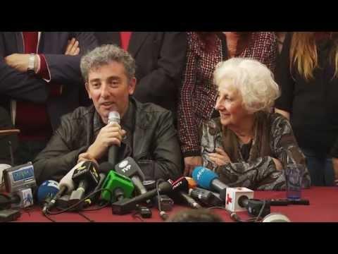 Conferencia de prensa del nieto 114: Ignacio Montoya Carlotto