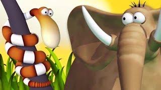 Мультфильм для детей Газун - Игры в Змейку - новые мультики для детей на русском