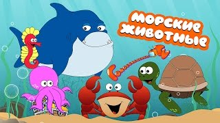 Морские животные для детей! Развивающий мультик! Учись и играй