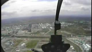 preview picture of video 'Robinson R22 helicopter in cockpit + ATC messages.'