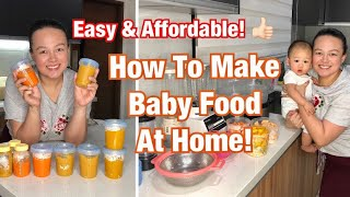 HOW TO PREPARE HOMEMADE BABY FOOD Easy And Tipid Way! | Nins Po
