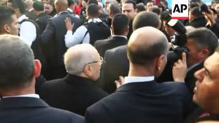 Favourite To Win Presidential Runoff, Beji Caid Essebsi, Comments At Polling Station