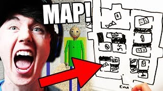 WE HAVE A MAP!!! GET ME OUT! || Baldi's Basics in Education and Learning - dooclip.me