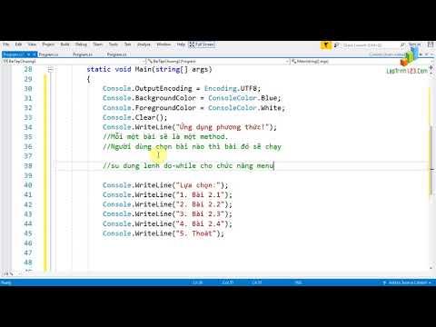 VD23 - Phương thức - Áp dụng giải bài tập