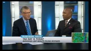 Martin A Smith Discussing Tax Tips on News Channel 8