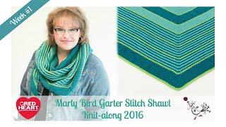 Marly Bird Garter Stitch Shawl Knit-along Week 1