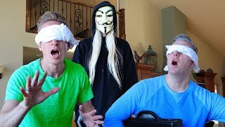24 HOURS BLINDFOLDED in abandoned HACKER MANSION PROJECT ZORGO SAFE HOUSE finding game master clues