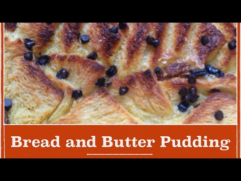 Easy Bread and Butter Pudding Recipe/ how to make classic English bread and butter pudding at home