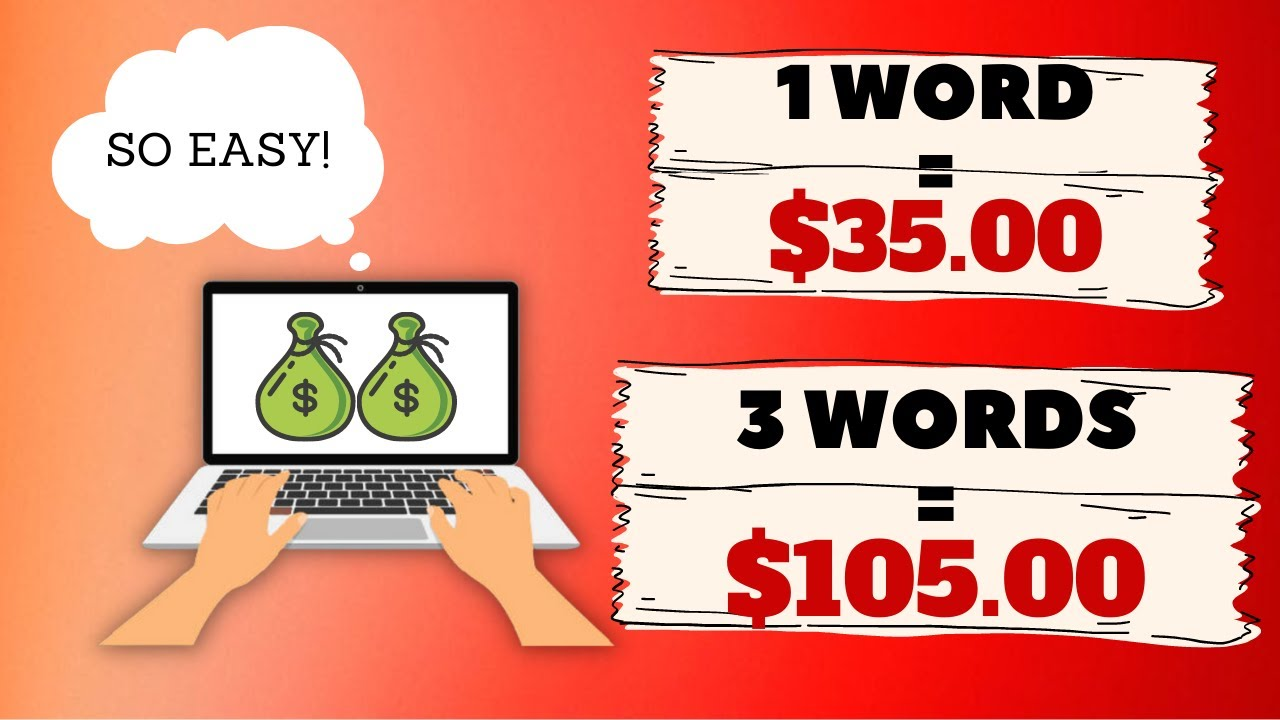 Make $35 simply By TYPING EACH word (Generate income Online) thumbnail