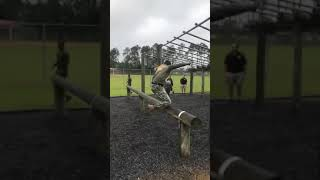 An ARMY obstacle course amazing military workout exercises #army #military #life #exercise