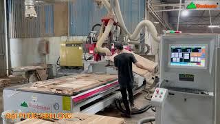 MÁY CNC TRUNG TÂM 2.5D Full option WM-1325RBS thực hiện chức năng khoan cạnh