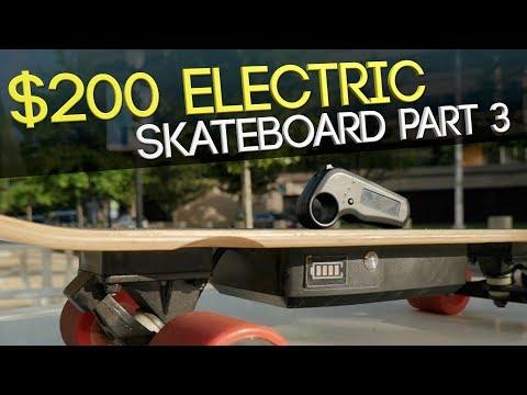 CHEAP Electric Skateboard Part 3 – $200 #Alouette Electric Skateboard Review