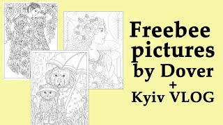Freebee Pictures For National Coloring Day By Dover + Chet Minton Pictures + Kyiv Vlog
