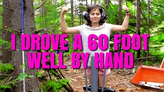 Off Grid YouTube Family of Girls Step up to Help Dad Drive a Well | Fabricating Off Grid Well Tools
