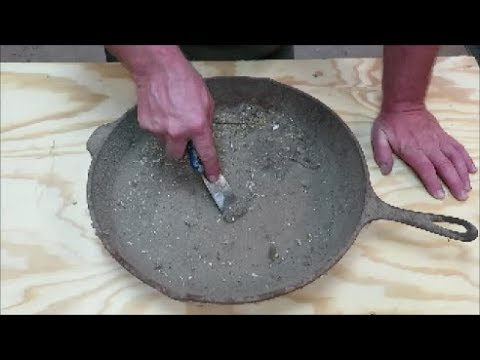 """seasoning a cast iron skillet how I do it."" The youtube algorithm has blessed this man. Wholesome video and comments."