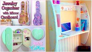 DIY CRAFTS FOR ROOM DECOR! 3 CARDBOARD FURNITURES DIY Room Decorating Ideas For Teenagers