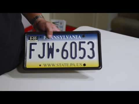 PLATEGUARD Tabless License Plate Frame - How To Install - By Carshow Automotive Products®