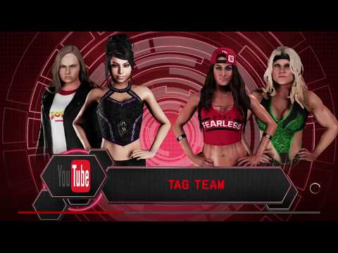 WWE 2K18 SSSNIPERWOLF,Ronda Rousey VS Nikki Bella,Beth Phoenix Elimination Tag Match