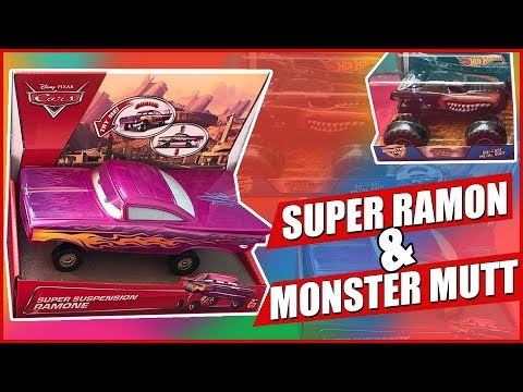 SUPER SUSPENSION RAMONE FROM DISNEY CARS&MONSTER MUTT FROM HOTWHEELS