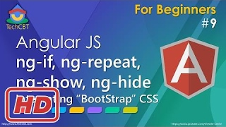 [Javascript Tutorial] AngularJS: ng-if, ng-repeat, ng-show, ng-hide and Bootstrap CSS framework int