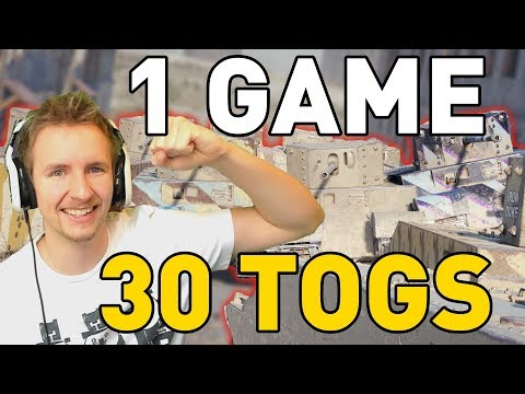 ONE GAME, 30 TOGS in World of Tanks!