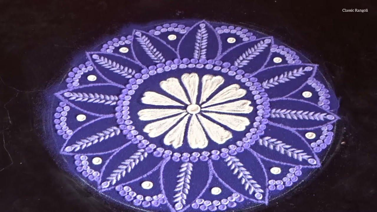 simple colorful rangoli design by classic rangoli