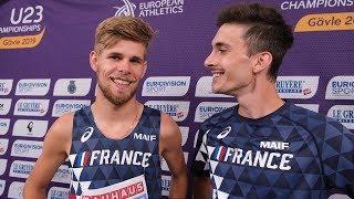 Gävle 2019 : Jimmy Gressier et Hugo Hay, réactions de champions