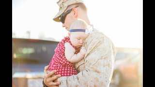 Dad Meets Baby Girl | McCane Military Homecoming