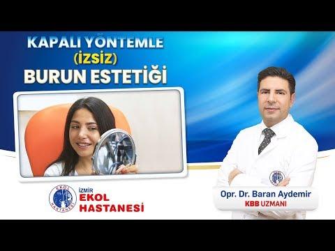 Kapalı Yöntem (İzsiz) Burun Estetiği - Opr. Dr. Baran Aydemir - İzmir Ekol Hastanesi