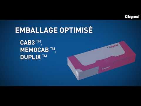 Emballage optimisé Cab 3, Mémocab et Duplix