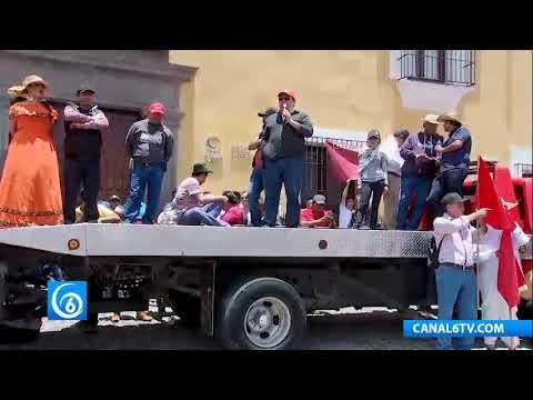 Protestan 10 mil poblanos contra el gobierno de Gali Fayad, denuncian poco trabajo en materia social