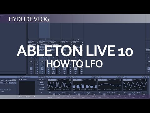 Ableton Live 10- creative LFO patterns