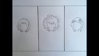 How To Draw Short Anime Hair