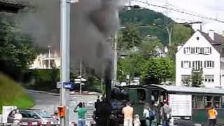 preview picture of video 'Dampflokomotive WB5 Liestal-Waldenburg'