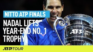 Nadal Lifts Year End Number One Trophy | Nitto ATP Finals | ATP