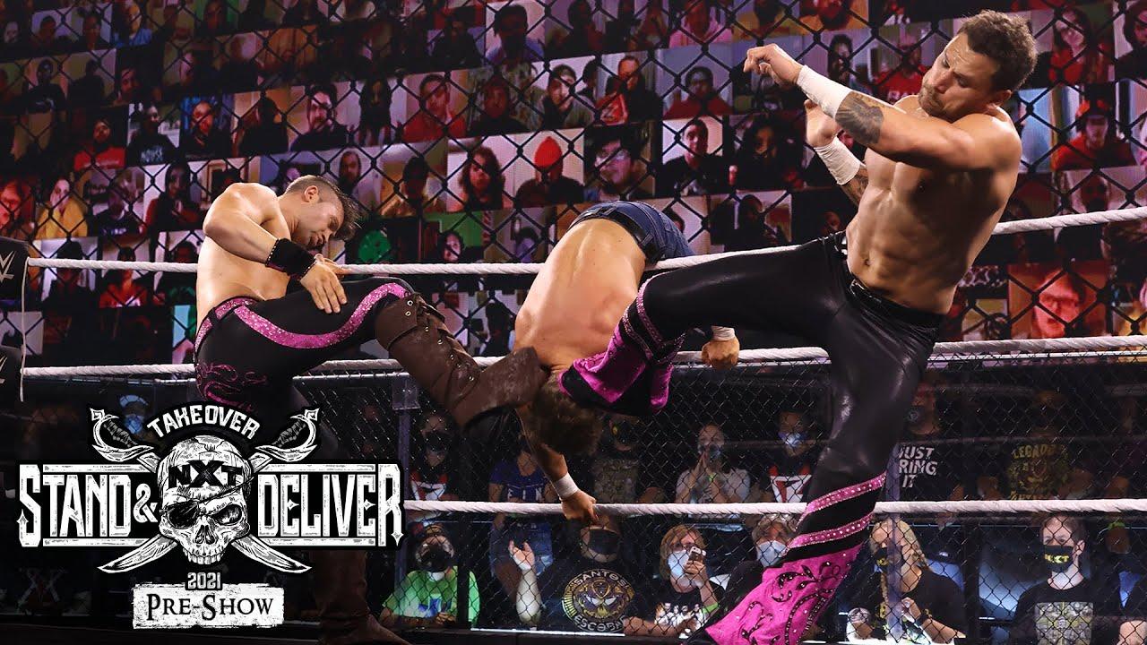 """Breezango Vs. Killian Dain & Drake Maverick At """"Takeover: Stand And Deliver"""" Night Two"""
