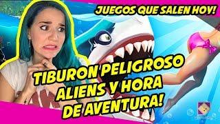 TIBURONES PELIGROSOS, ALIENS Y HORA DE AVENTURA! - Juegos que salen HOY!