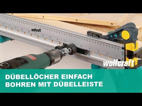Dübellöcher einfach bohren mit der Dübelleiste | wolfcraft