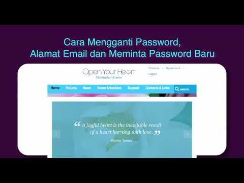 Cara mengubah alamat email