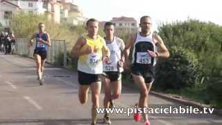 preview picture of video 'Sanremo Half Marathon  sulla pista ciclabile del ponente ligure'