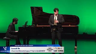 Leesak Ko plays Chant du Ménestrel opus 71 by Alexander GLAZUNOV