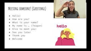 American Sign Language Vocabulary